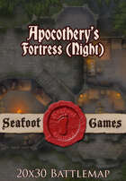 Seafoot Games - Apocothery's Fortress, Night (20x30 Battlemap)