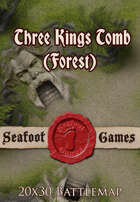Seafoot Games - Three Kings Tomb (Forest) | 20x30 Battlemap