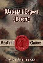 Seafoot Games - Waterfall Lagoon (Desert) | 20x30 Battlemap