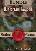 Seafoot Games - Waterfall Lagoon | 20x30 Battlemap [BUNDLE]