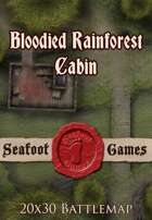 Seafoot Games - Blooded Rainforest Cabin (Interior) | 20x30 Battlemap