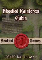 Seafoot Games - Blooded Rainforest Cabin (Exterior) | 20x30 Battlemap