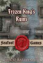 Seafoot Games - Frozen King's Ruins | 20x30 Battlemap