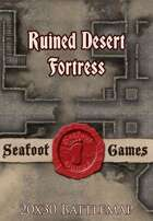 Seafoot Games - Ruined Desert Fortress | 20x30 Battlemap