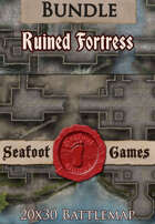 Seafoot Games - Ruined Fortress | 20x30 Battlemap [BUNDLE]