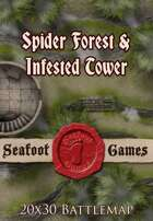 Seafoot Games - Spider Forest & Infested Tower | 20x30 Battlemap