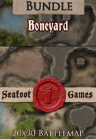 Seafoot Games - Boneyard | 20x30 Battlemap [BUNDLE]