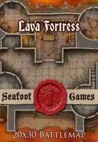 Seafoot Games - Lava Fortress | 20x30 Battlemap