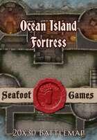 Seafoot Games - Ocean Island Fortress | 20x30 Battlemap