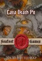 Seafoot Games - Lava Death Pit | 20x30 Battlemap