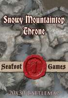 Seafoot Games - Snowy Mountaintop Throne | 20x30 Battlemap