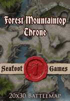 Seafoot Games - Forest Mountaintop Throne | 20x30 Battlemap