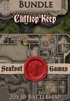 Seafoot Games - Clifftop Keep | 20x30 Battlemap [BUNDLE]