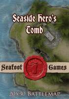 Seafoot Games - Seaside Hero's Tomb | 20x30 Battlemap