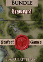 Seafoot Games - Graveyard | 20x30 Battlemap [BUNDLE]