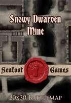 Seafoot Games - Snowy Dwarven Mine | 20x30 Battlemap