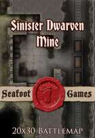 Seafoot Games - Sinister Dwarven Mine | 20x30 Battlemap