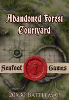 Seafoot Games - Abandoned Forest Courtyard | 20x30 Battlemap
