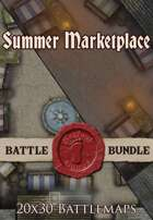 Seafoot Games - Summer Marketplace | 20x30 Battlemap [BUNDLE]