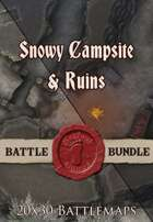 Seafoot Games - Snowy Campsite & Ruin | 20x30 Battlemap [BUNDLE]