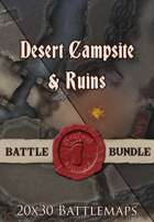 Seafoot Games - Desert Campsite & Ruins Night | 20x30  [BUNDLE]