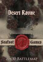Seafoot Games - Desert Ravine | 20x30 Battlemap