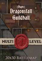 Seafoot Games - Dragonsfall Guildhall | Night| 20x30 Battlemap