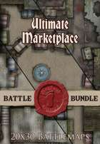 Seafoot Games - Ultimate Marketplace  | 20x30 Battlemap [BUNDLE]