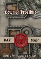 Seafoot Games - Town of Frostbite | 20x30 Battlemap