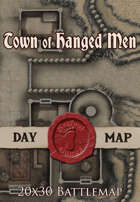 Seafoot Games - Town of Hanged Men | 20x30 Battlemap