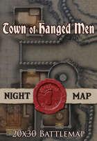 Seafoot Games - Town of Hanged Men (Night) | 20x30 Battlemap