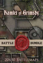 Seafoot Games - Hamlet of Grimsby 2 | 20x30 Battlemap [BUNDLE]