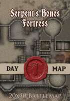 Seafoot Games - Fortress of the Serpent's Bones | 20x30 Battlemap