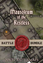 Mausoleum of the Restless 2 | 20x30 Battlemap [BUNDLE]