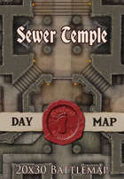 Seafoot Games -  Sewer Temple | 20x30 Battlemap