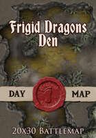 Seafoot Games - Frigid Dragons Den | 20x30 Battlemap