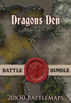 Dragons Den | 20x30 Battlemaps [BUNDLE]