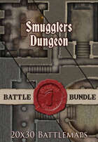 Smugglers Dungeon | 20x30 Battlemap [BUNDLE]