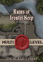 Seafoot Games - Ruins of Ironfel Keep | 20x30 Battlemap
