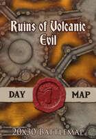 Seafoot Games - Ruins of Volcanic Evil | 20x30 Battlemap