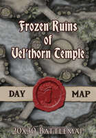 Seafoot Games - Frozen Ruins of Vel'thorn Temple | 20x30 Battlemap