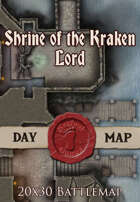 Seafoot Games - Shrine of the Kraken Lord | 20x30 Battlemap