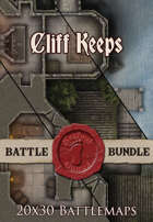 Cliff Keeps | 20x30 Battlemaps [BUNDLE]