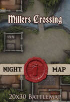 Seafoot Games - Millers Crossing Night | 20x30 Battlemap