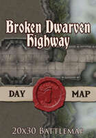 Seafoot Games - Broken Dwarven Highway | 20x30 Battlemap