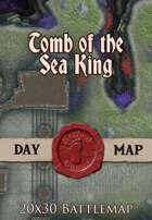Seafoot Games - Tomb of the Sea King | 20x30 Battlemap