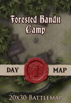 Seafoot Games - Forested Bandit Camp | 20x30 Battlemap