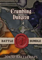 Crumbling Dungeon | 20x30 Battlemap [BUNDLE]