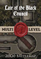 Seafoot Games - Lair of the Black Council | 20x30 Battlemap