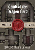 Seafoot Games - Tomb of the Dragon Lord | 20x30 Battlemap